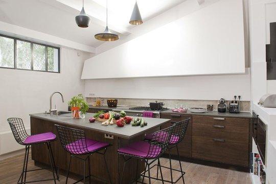 Xavie 39 z meuble hotte peint for Cuisine xaviez