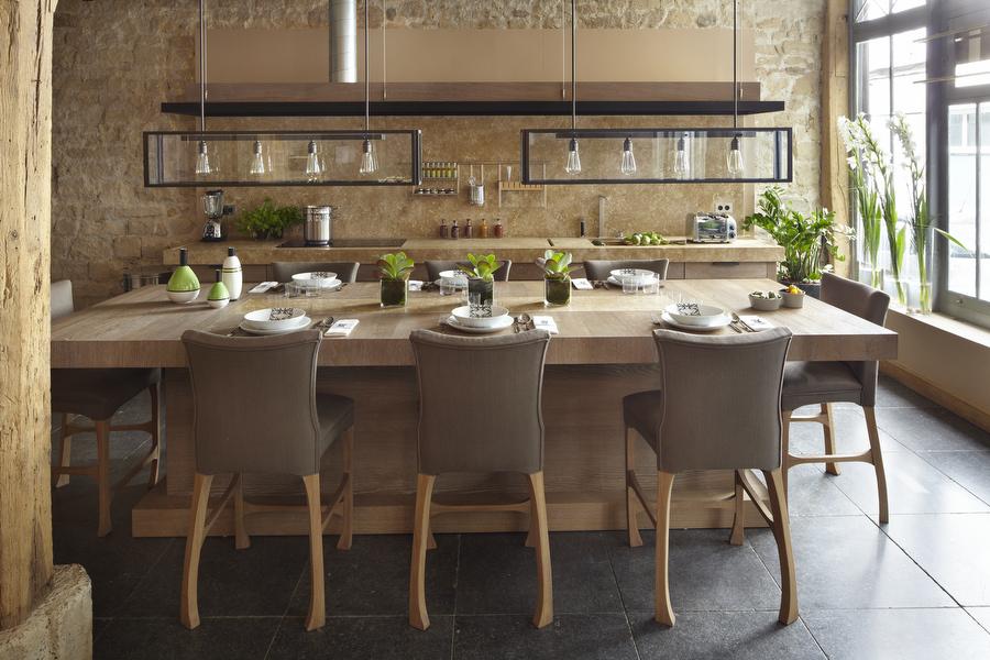 Xavie 39 z meuble hotte suspendu loft for Decouvrir cuisine